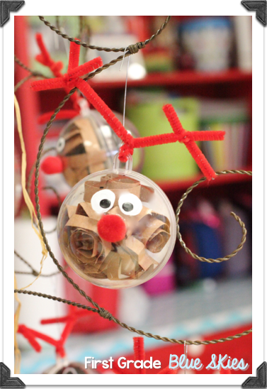 Classroom Ornament Ideas ~ Christmas crafts in the classroom reindeer ornaments