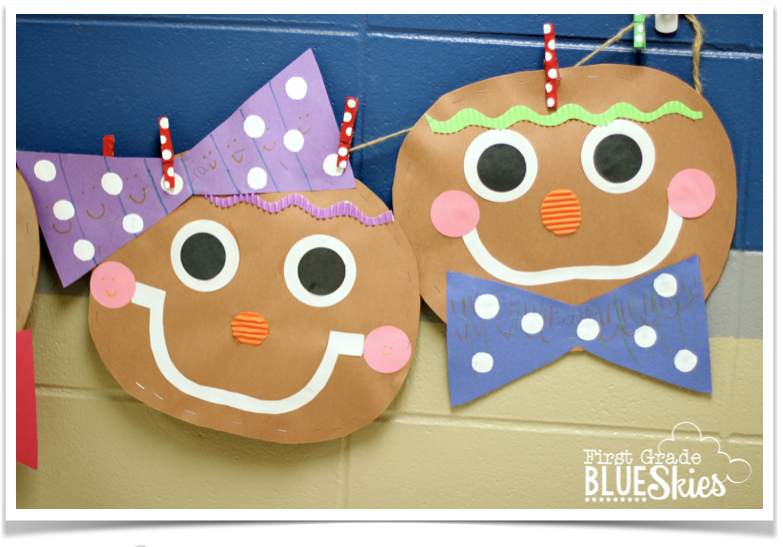 Gingerbread Man Craft, Close Read, and Writing - First Grade Blue ...