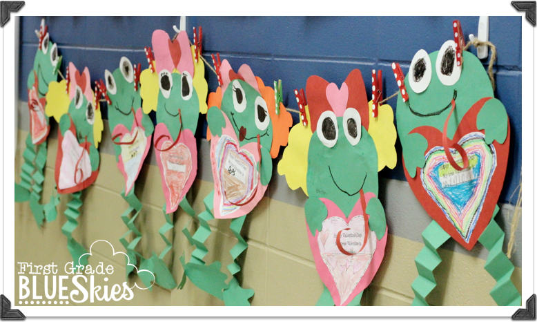 froggys first kiss valentines day craft first grade blue skies