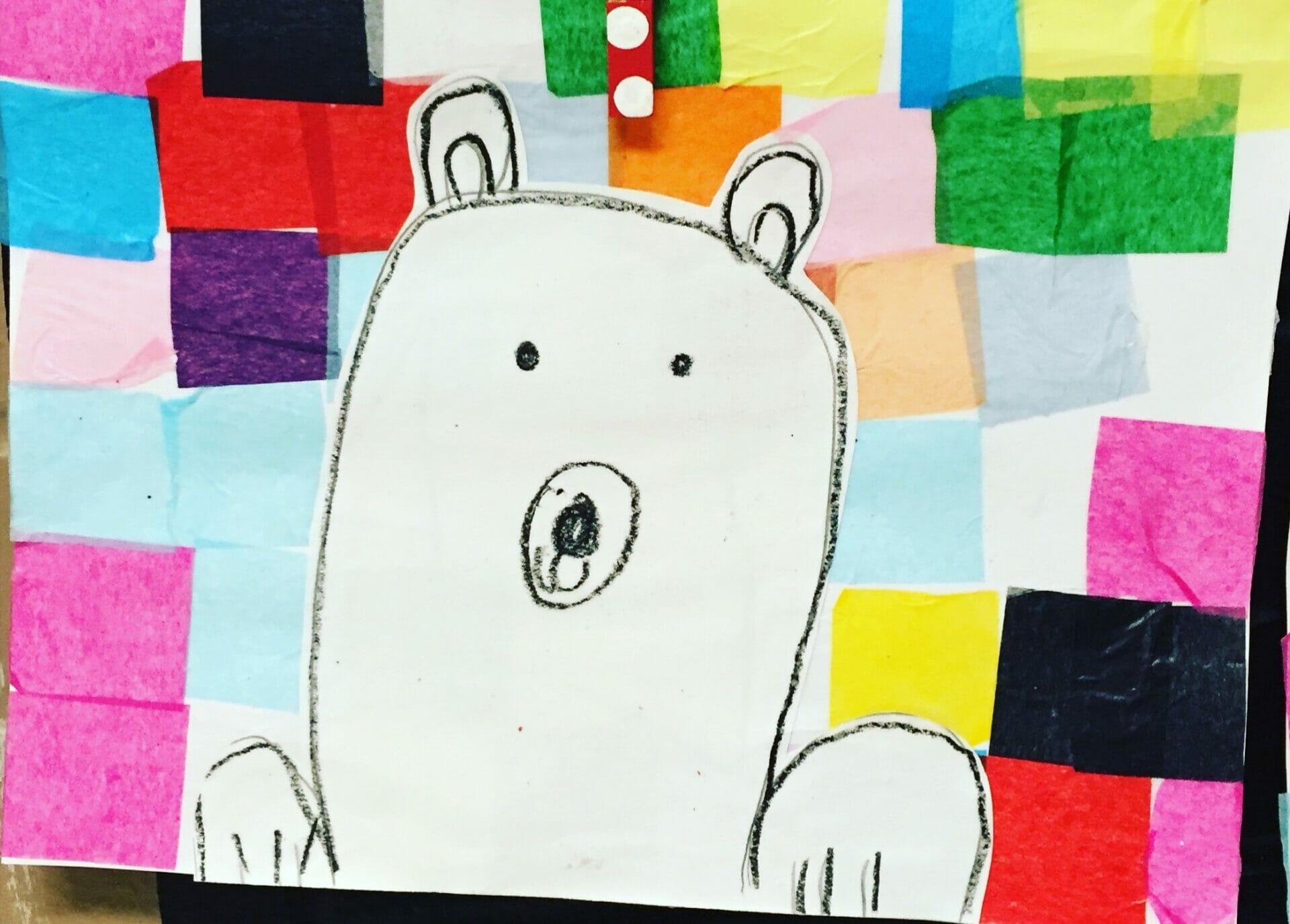 Polar Bear Collage Craft First Grade Blue Skies Bloglovin